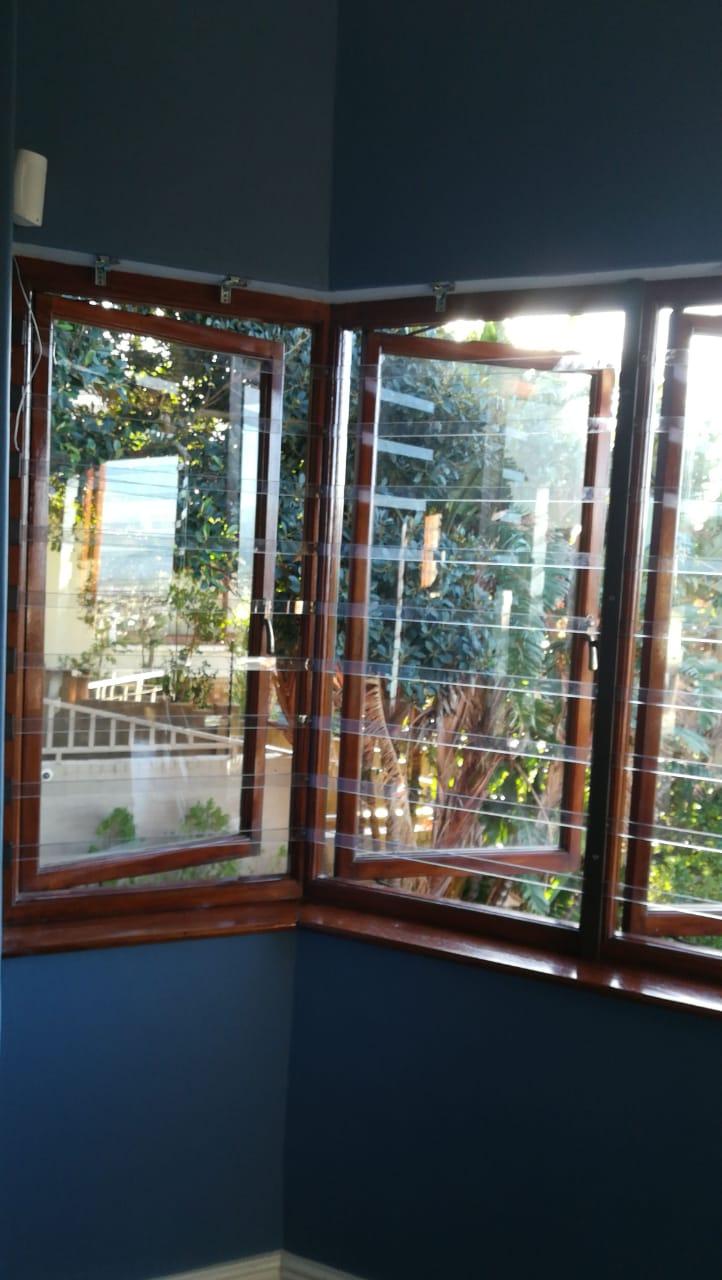 Window blinds, Clear & Aluminium burglar bars