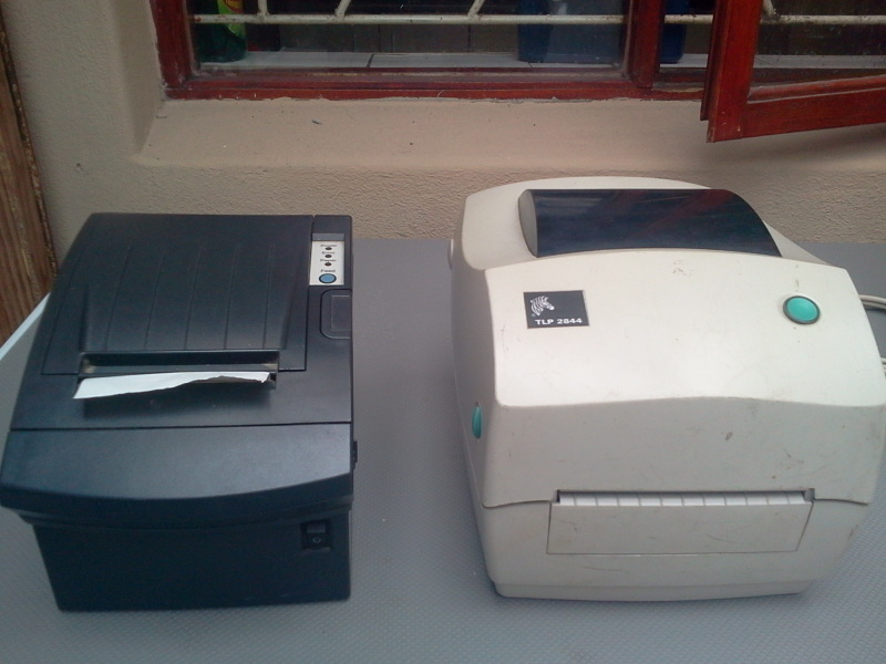 Hi I am selling a used Zebra TLP2844 Desktop Thermal Barcode and label Printer(White) in excellent working condition For R2000.Power adapter and USB cable included.