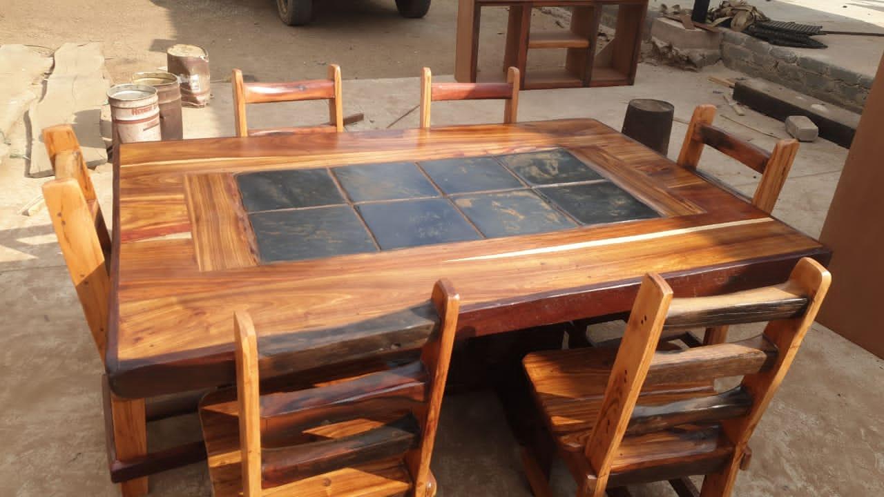 6 sitplek eetkamer stel / seat diningroom suite