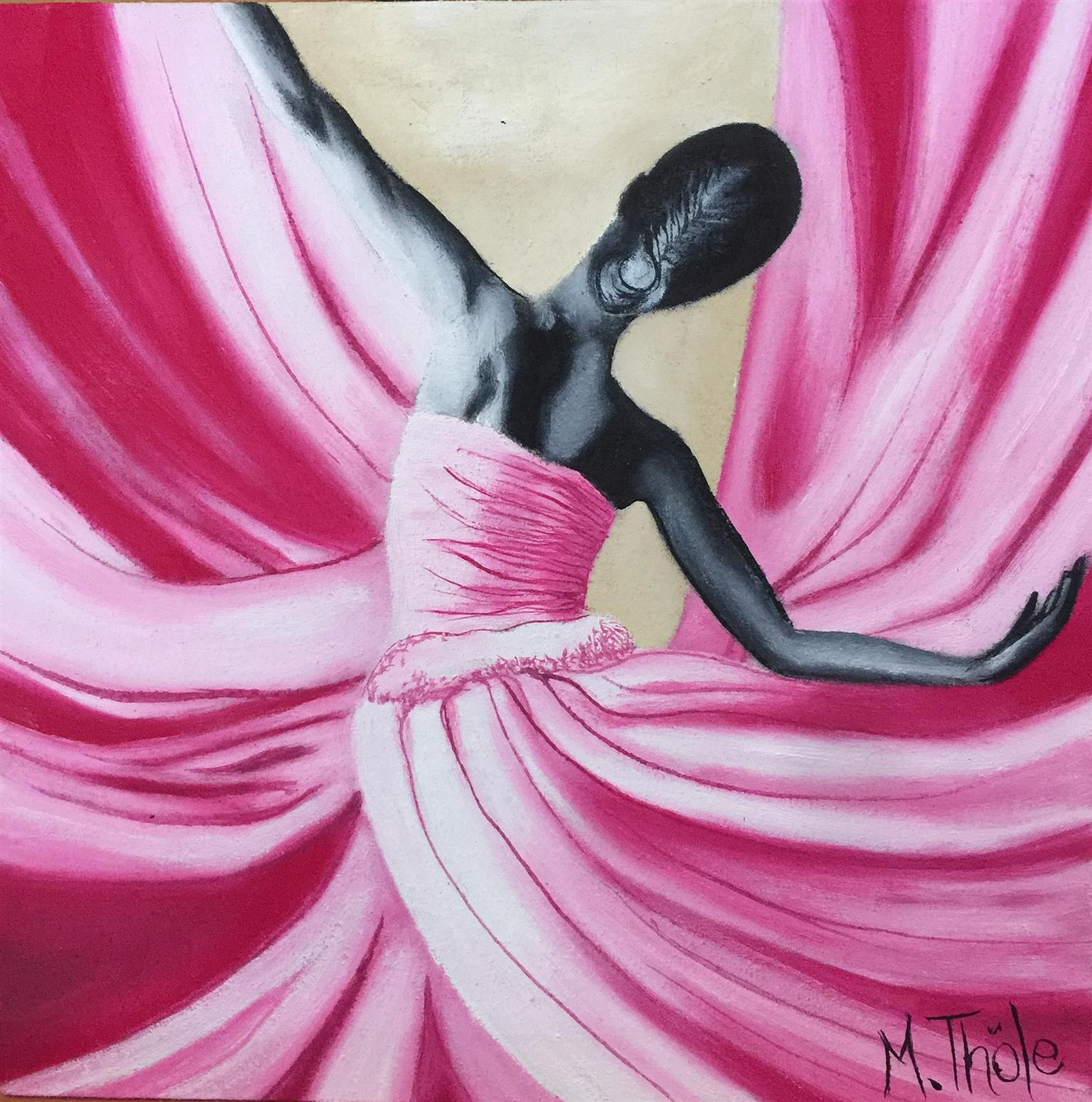 Set of Ballet oilpaintings