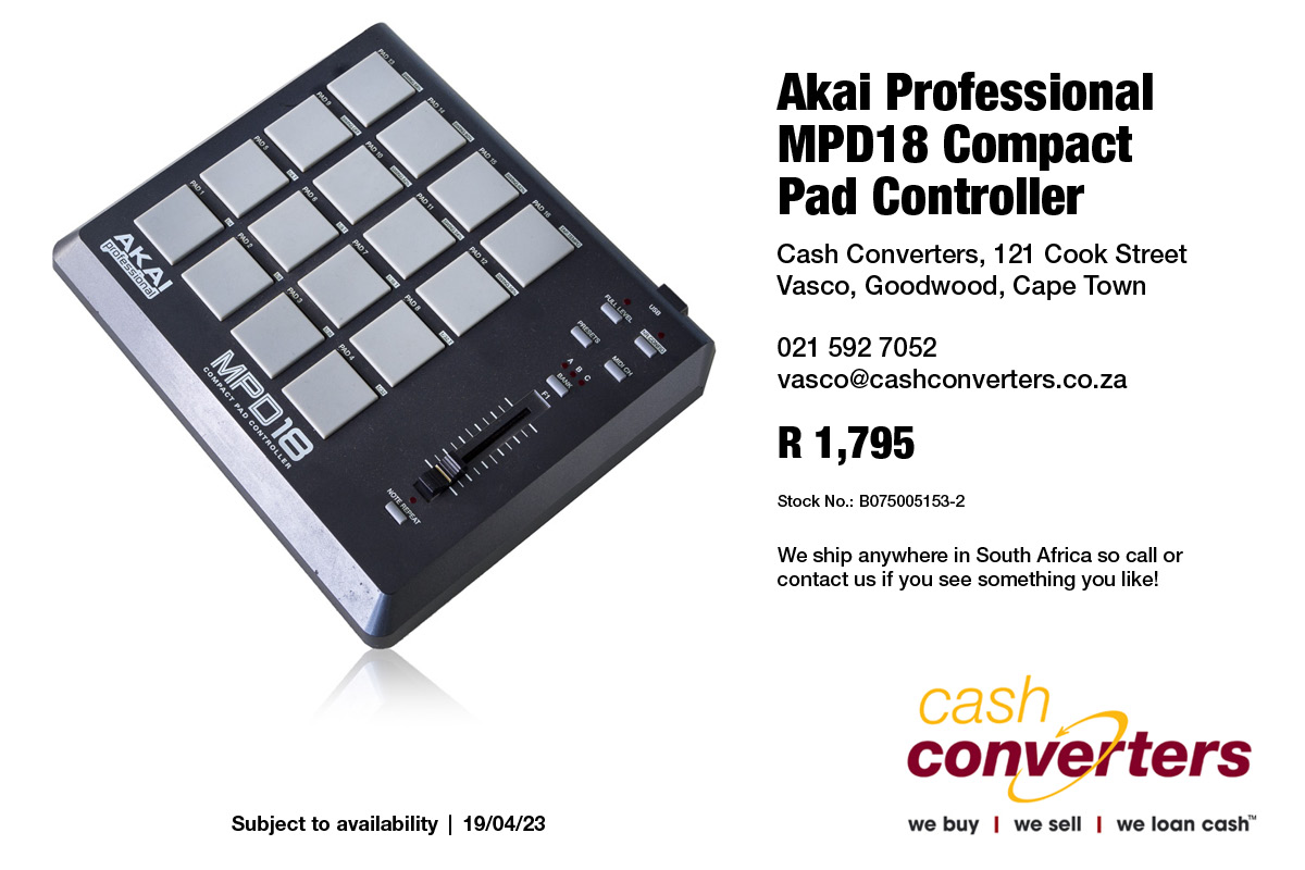 Akai Professional MPD18 Compact Pad Controller | Junk Mail