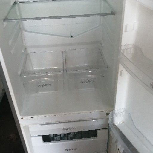 kic sliver fridge freezer 280l working