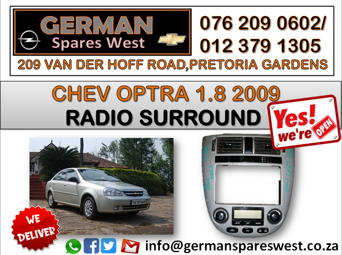 CHEV OPTRA 1.8 USED RADIO SURROUND FOR SALE