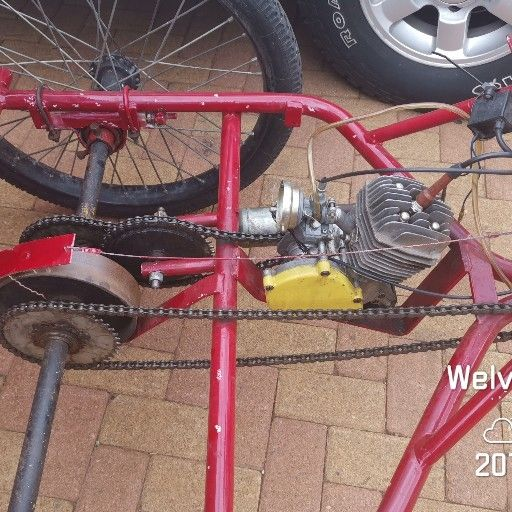 trike bicycle with engine