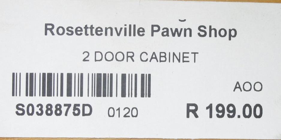 2 DOOR CABINET S038875D #Rosettenvillepawnshop