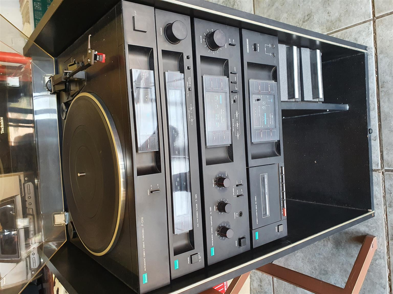 Sansui Hifi Component 4 Stack System and Cabinet (No Speakers)