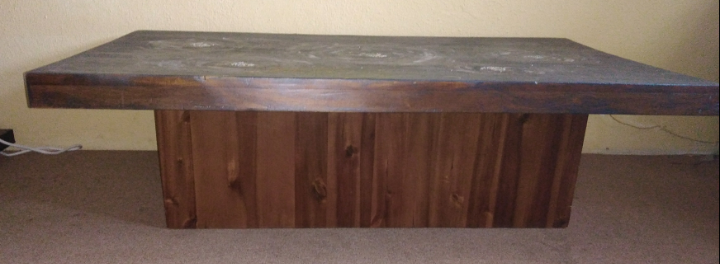 Solid Quality Wooden Coffee / Games Table - Modern Painted Top (negotiable)