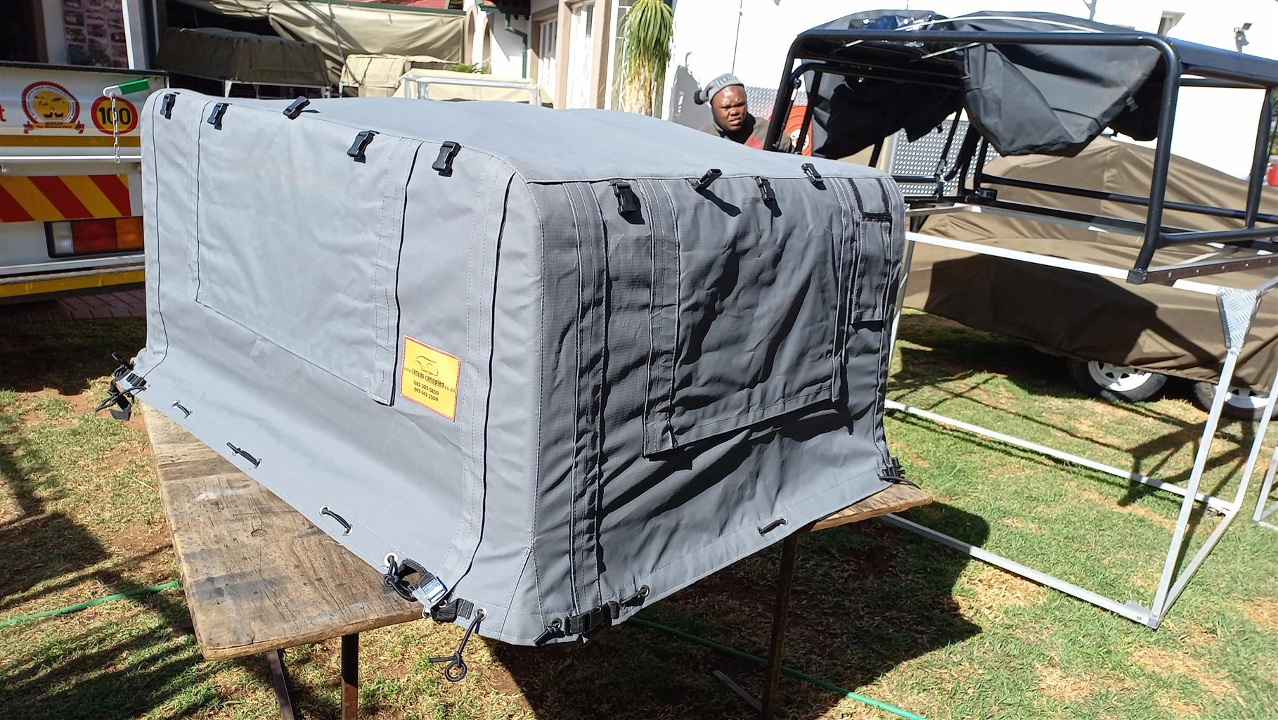 Canvas canopy Land rover 90, new.