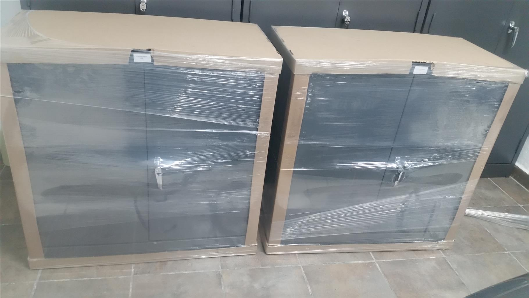 12 Slot Heavy Duty Pigeon Hole Steel Cabinets x 2