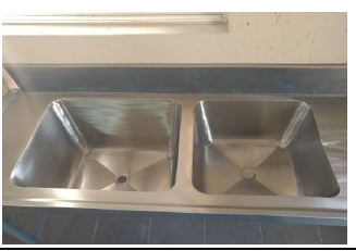 Stainless steel Tables and Sinks, Second Hand
