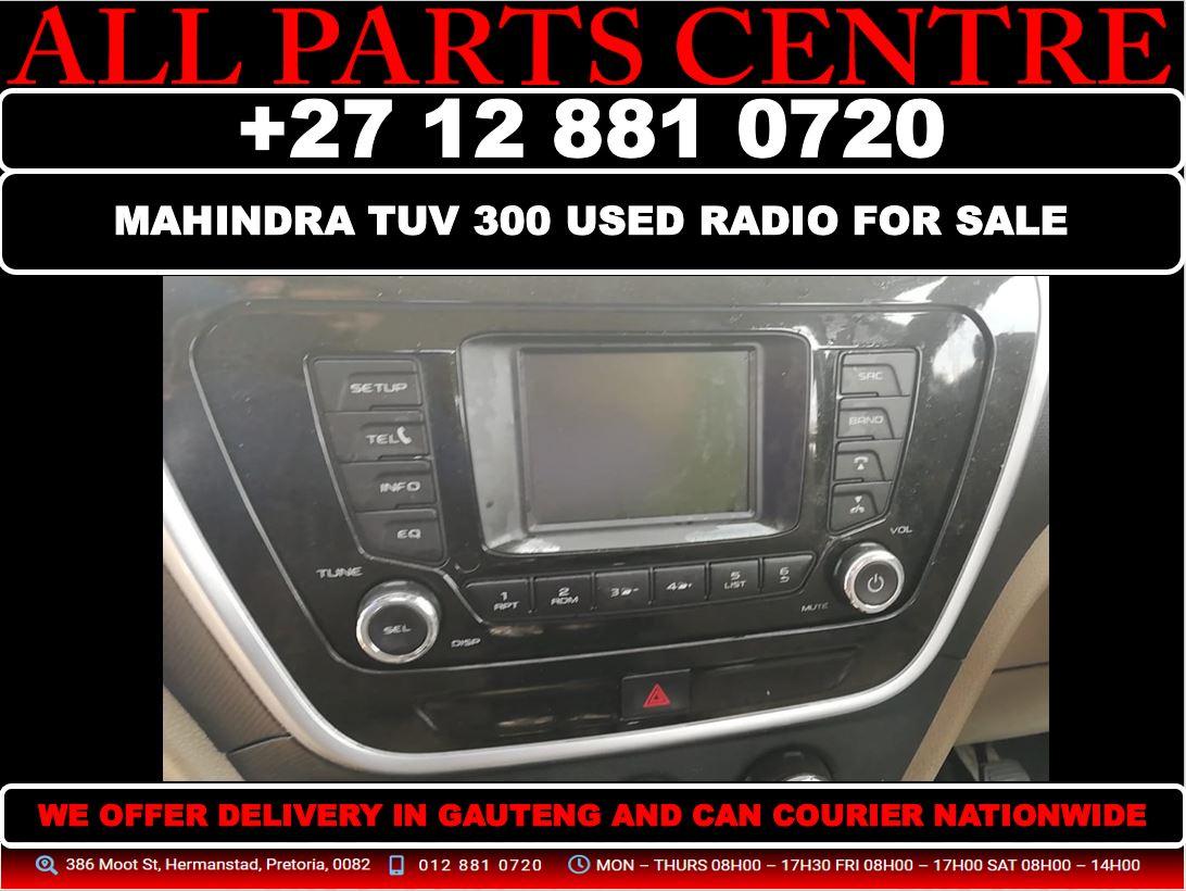 Mahindra tuv 300 used radio for sale