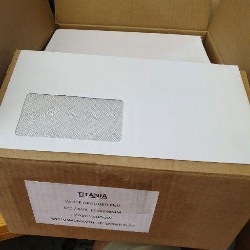 White Window Gummed Envelope 115 x 230mm