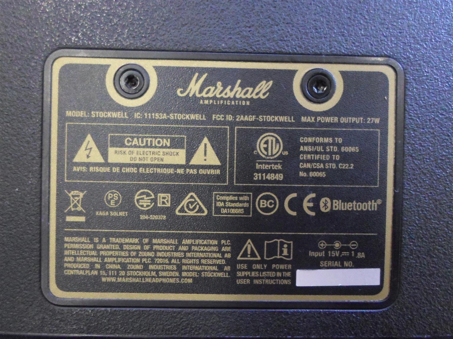 Marshall Mini Speaker