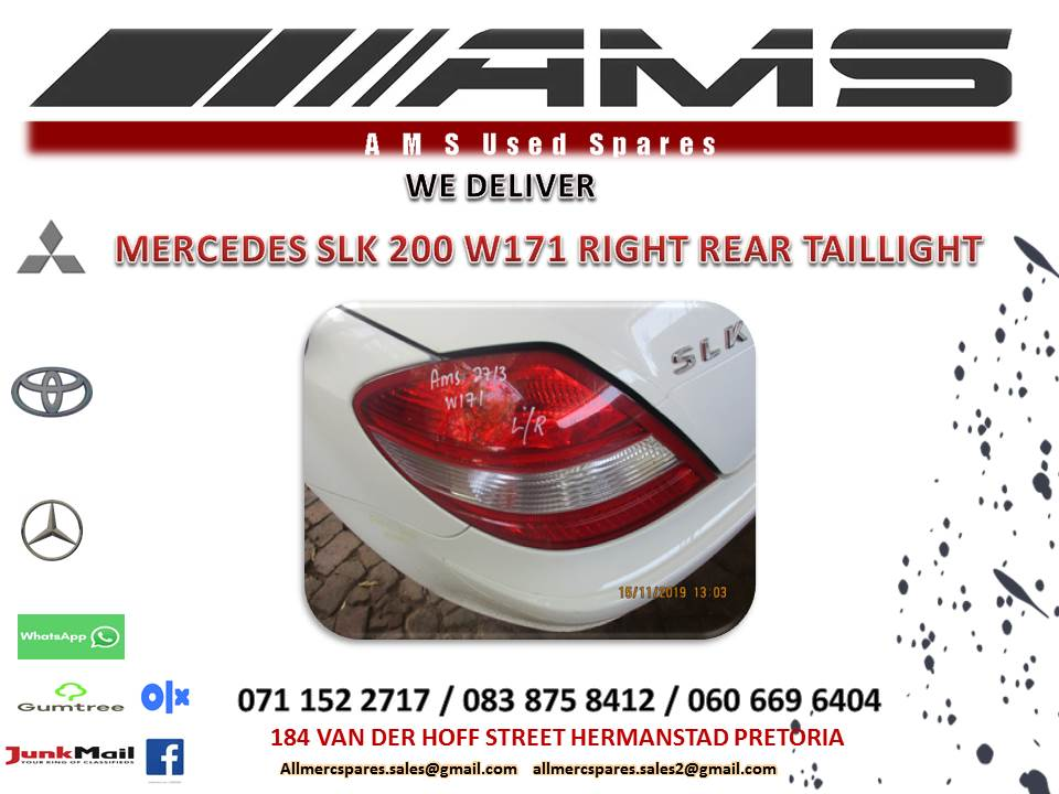 MERCEDES SLK 200 W171 RIGHT TAIL LIGHT