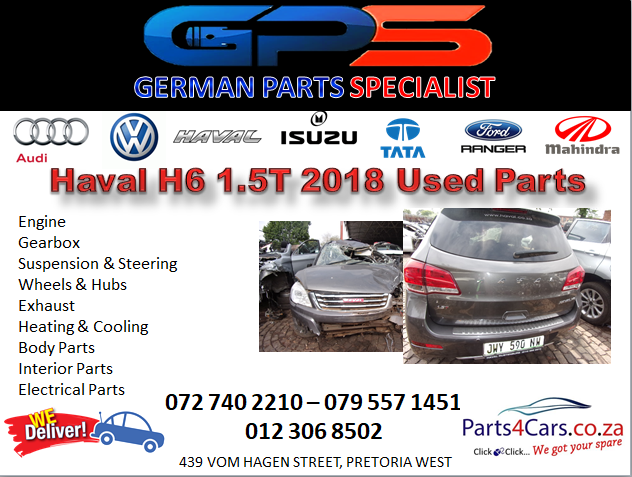 Haval H6 1.5T 2018 Used Parts for Sale