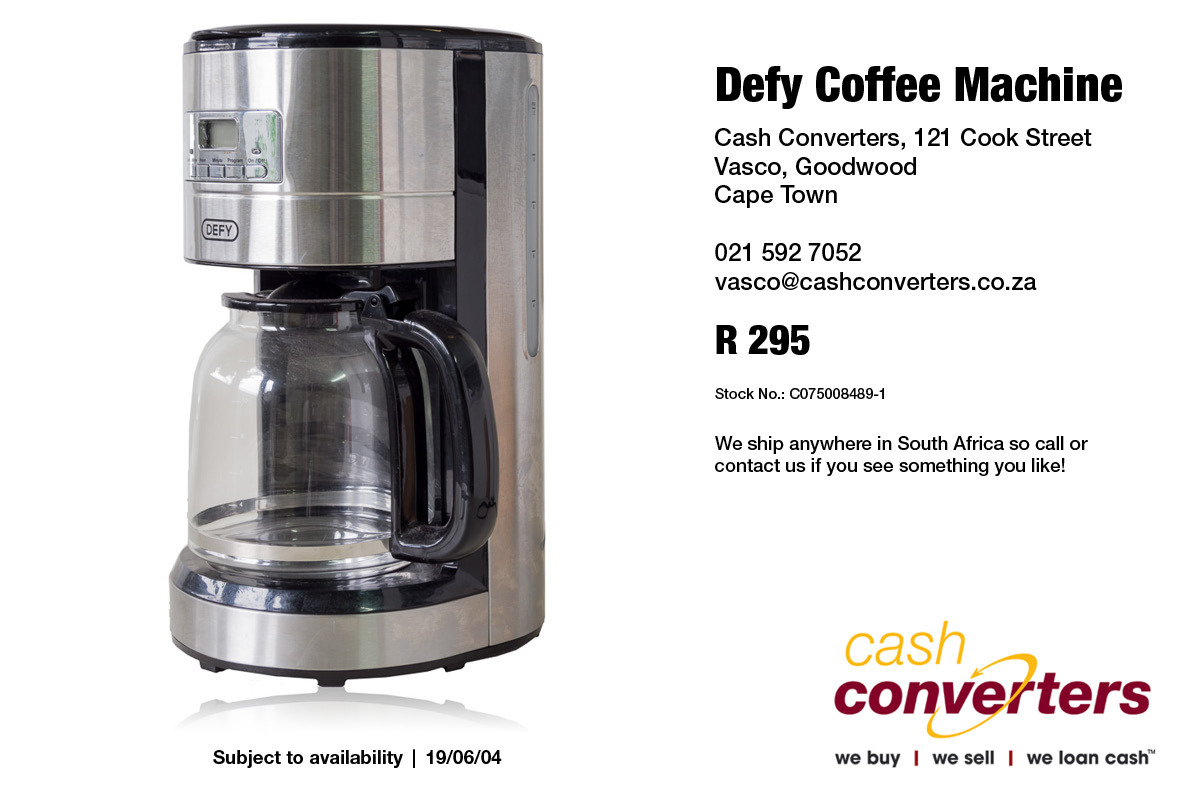 Defy Coffee Machine