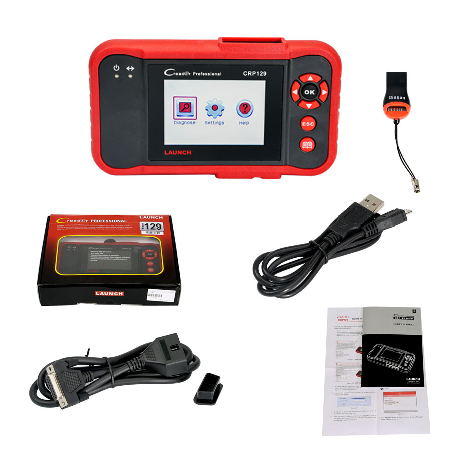Auto scanner:  LAUNCH Creader CRP129 Professional Auto Code Reader Scanner diagnostic only R4400