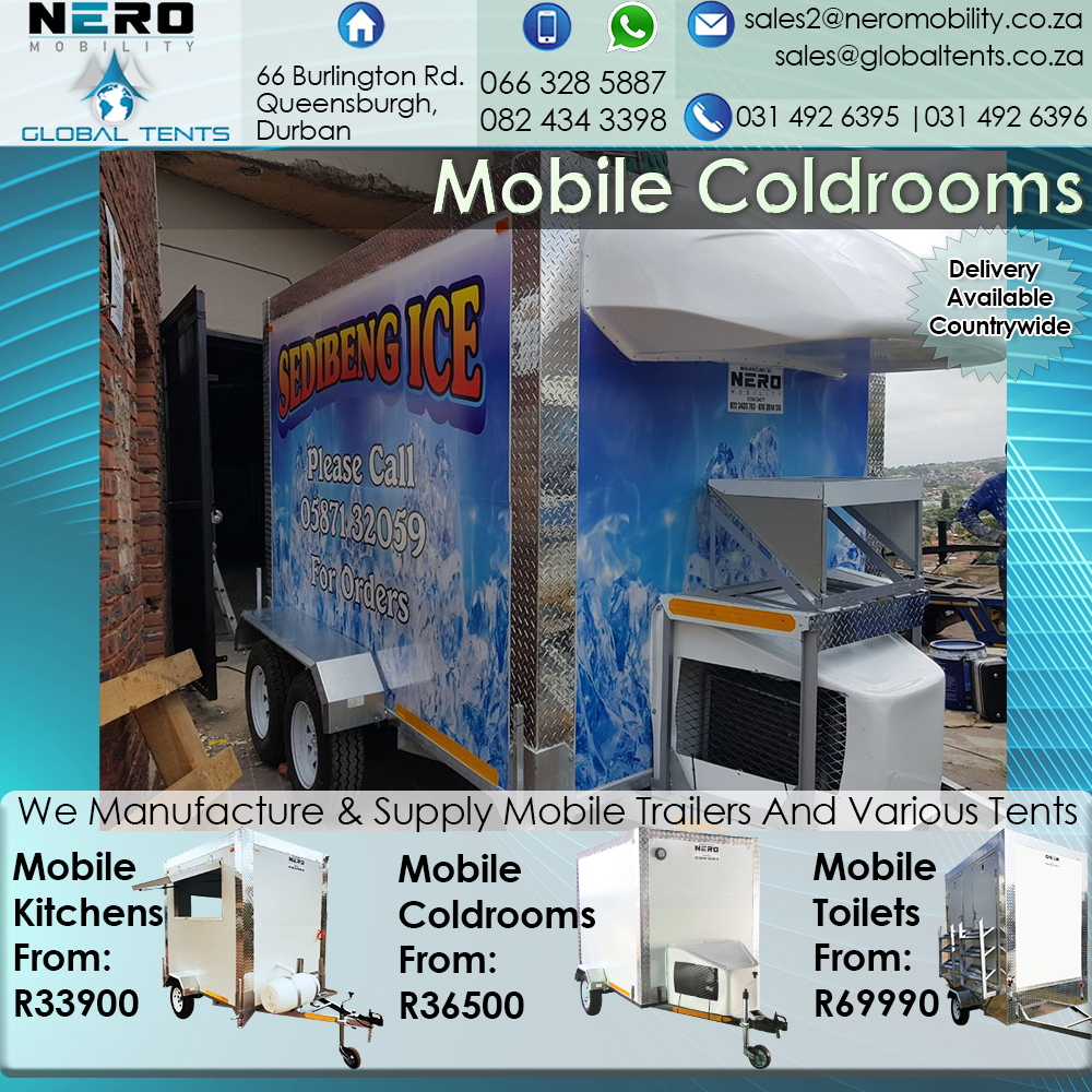 2 m Mobile Coldrooms for sale