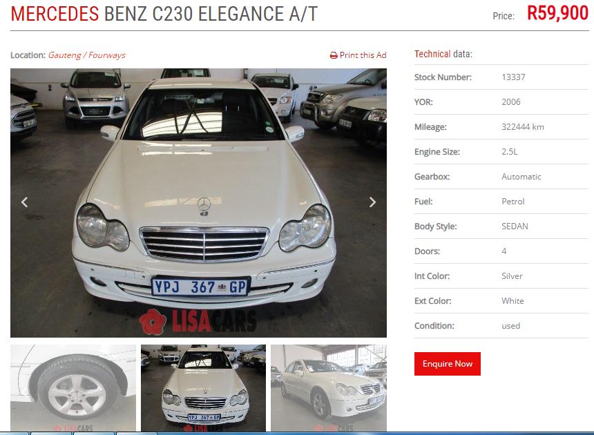 2006 Mercedes Benz C Class C230 Elegance