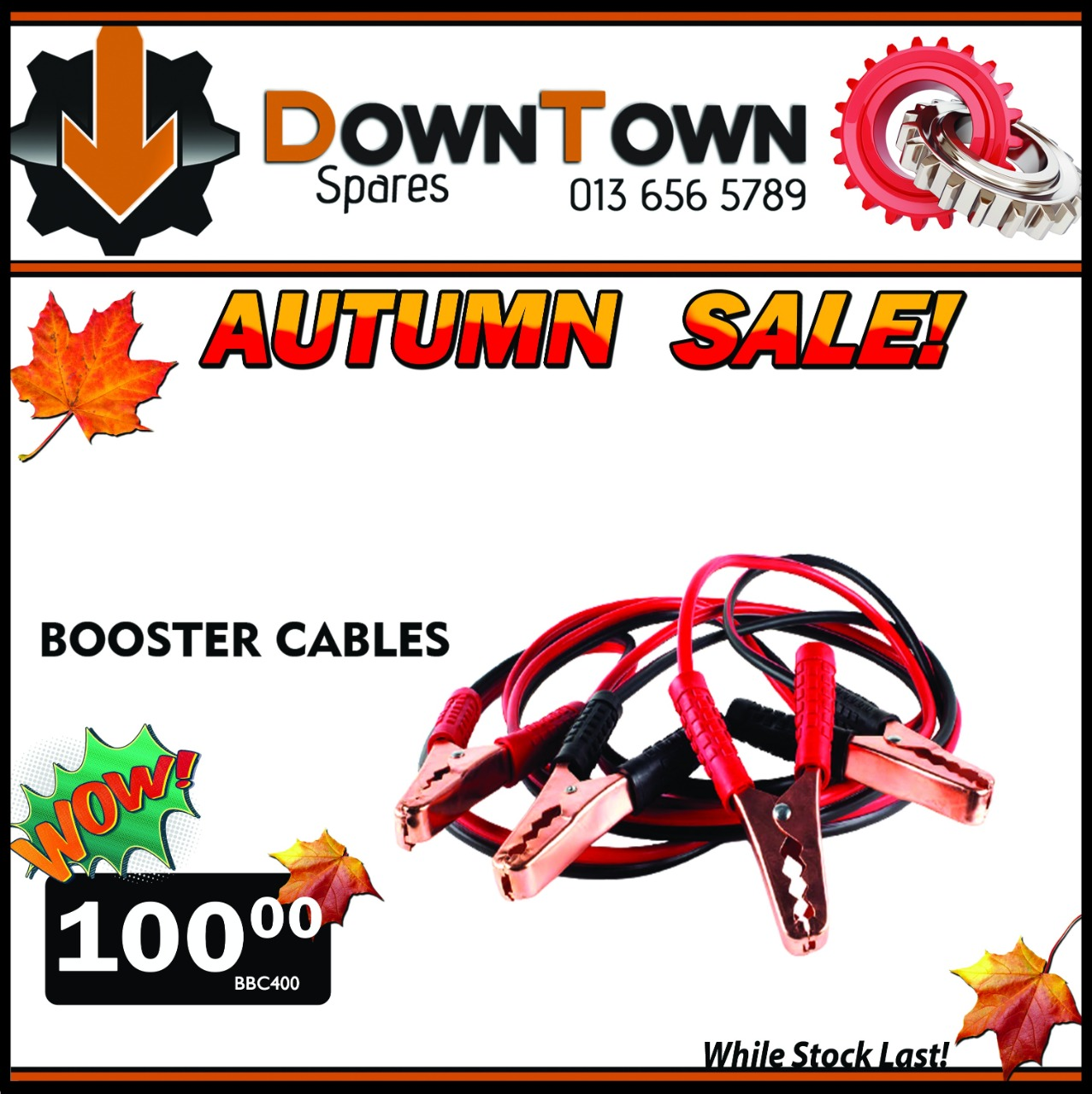 Booster Cables ONLY R100!