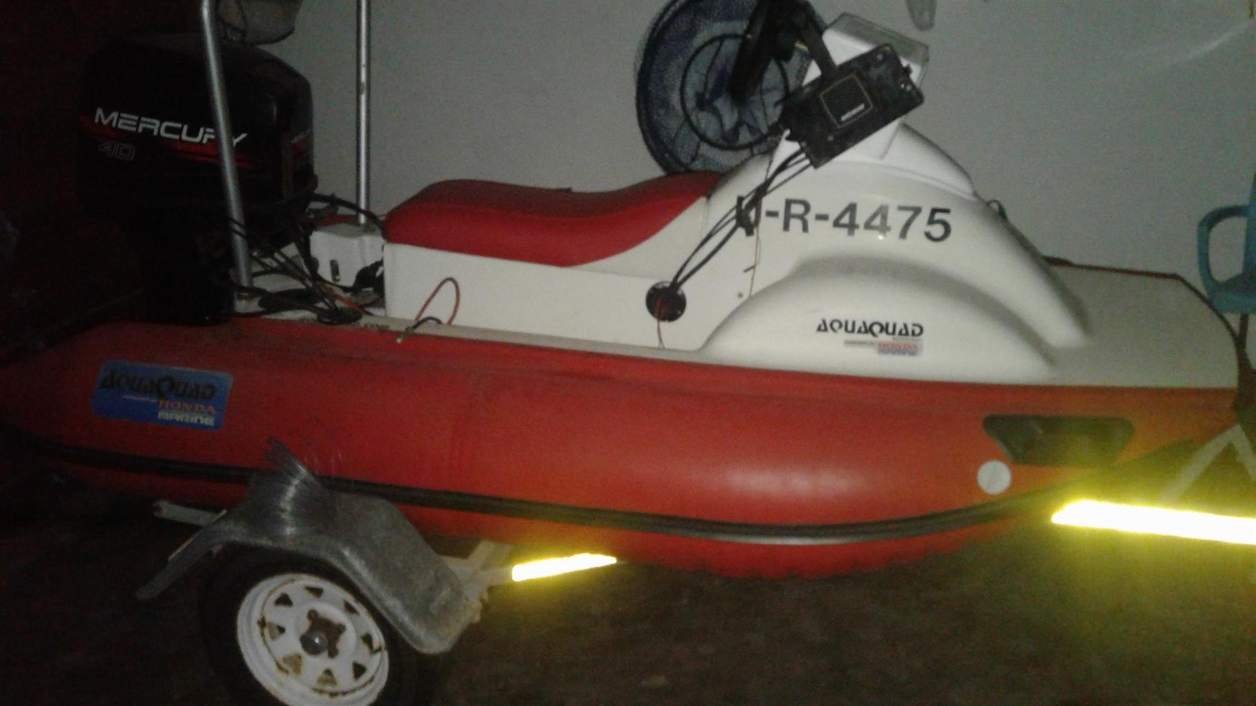 Aqua Quad Fishing boat with a 40 mercury motor