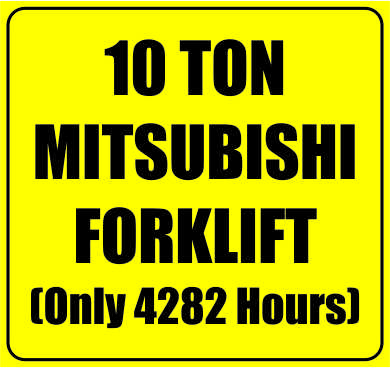 A late model 10ton Mitsubishi FD100N diesel forklift