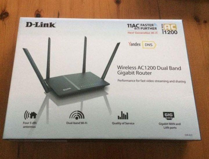 Fibre D-link Wireless AC1200 Dual Band Wi-Fi