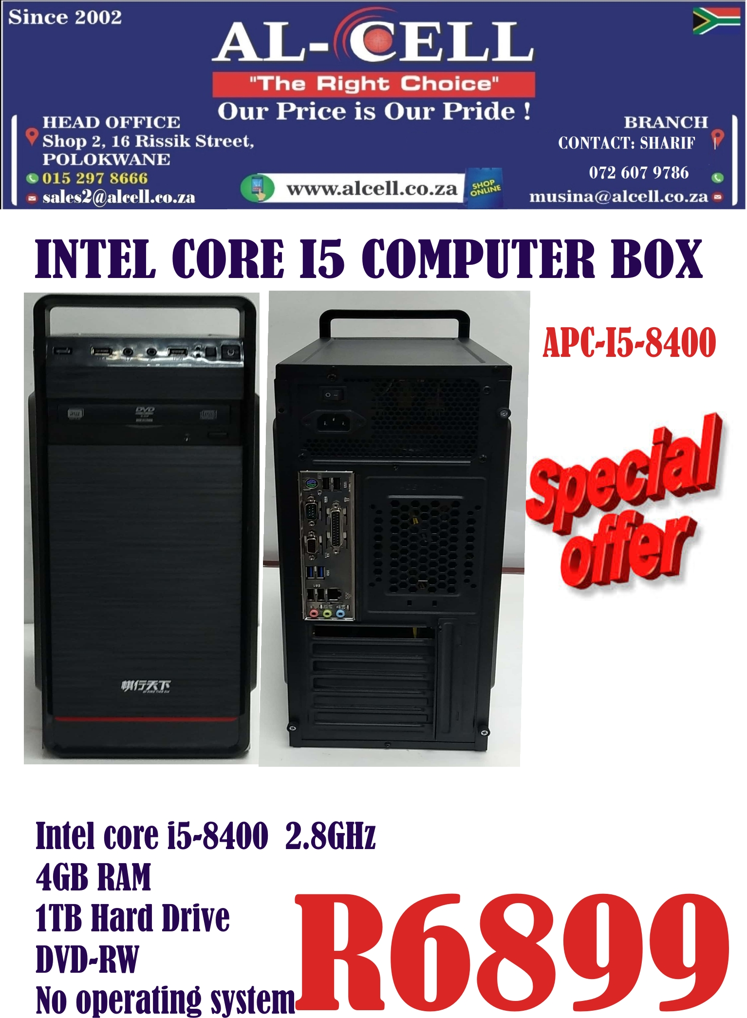 Intel Core I5 Computer Box