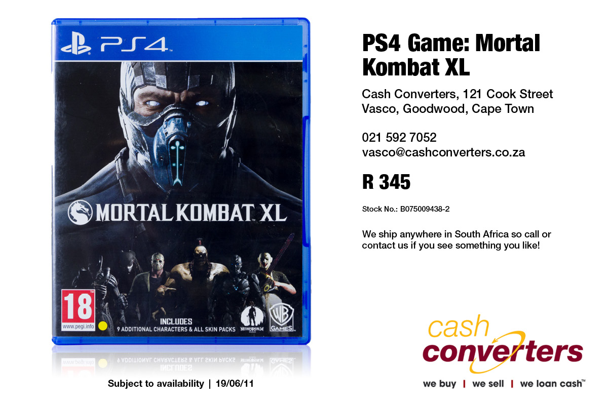 PS4 Game: Mortal Kombat XL | Junk Mail