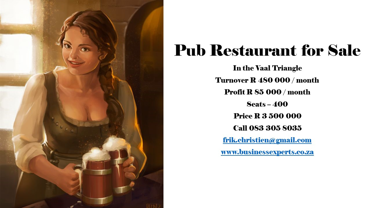 Pub Restaurant For Sale in Vaal Triangle
