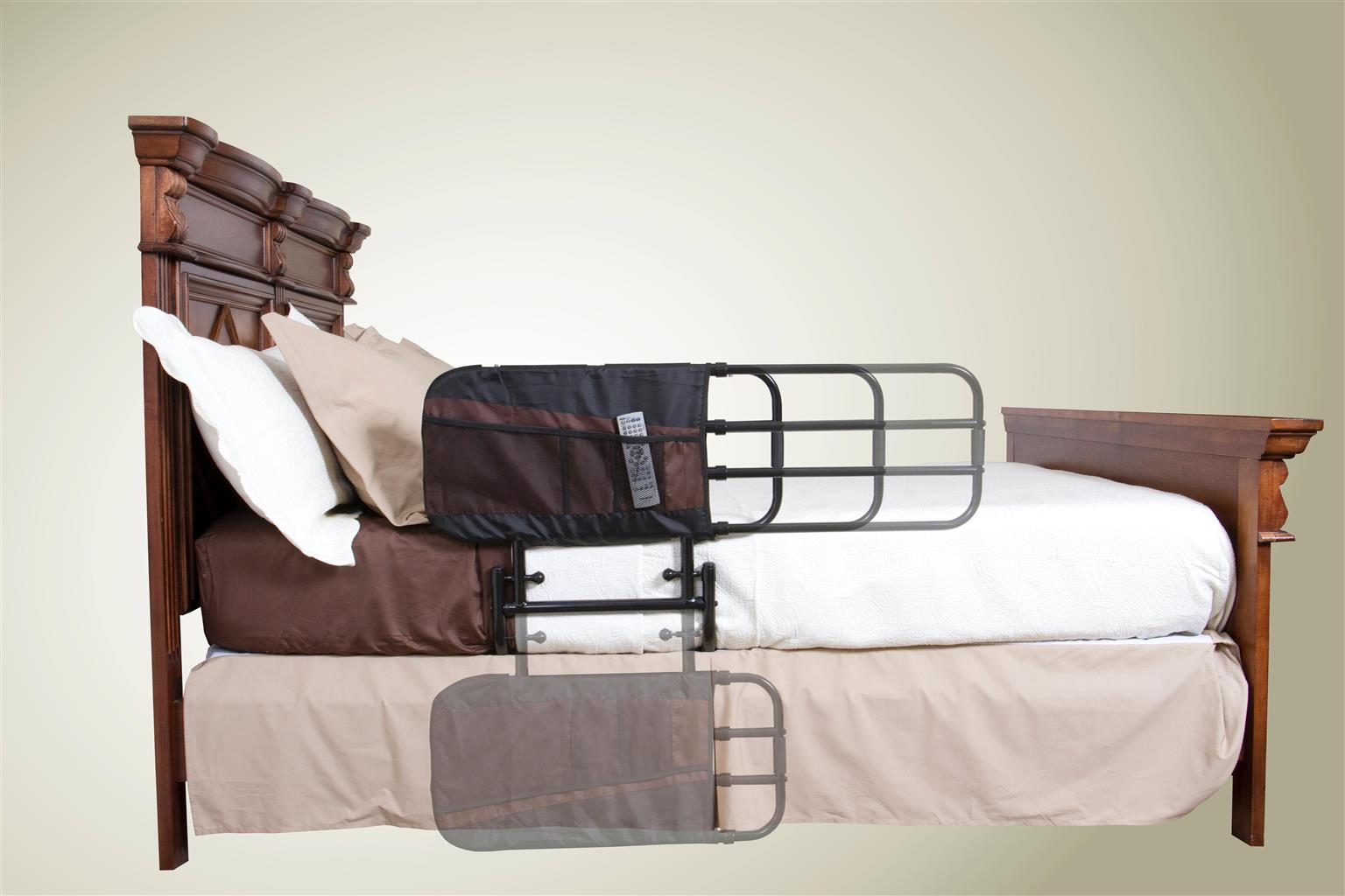 EZ Adjustable Bed Rail or Cot Side - Fits Almost All Standard Beds. FREE DELIVERY, while stocks last