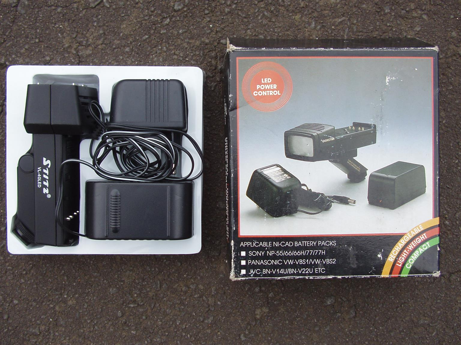Video Camcorder Light - Gemstar - Universal - HVL-4040E Kit