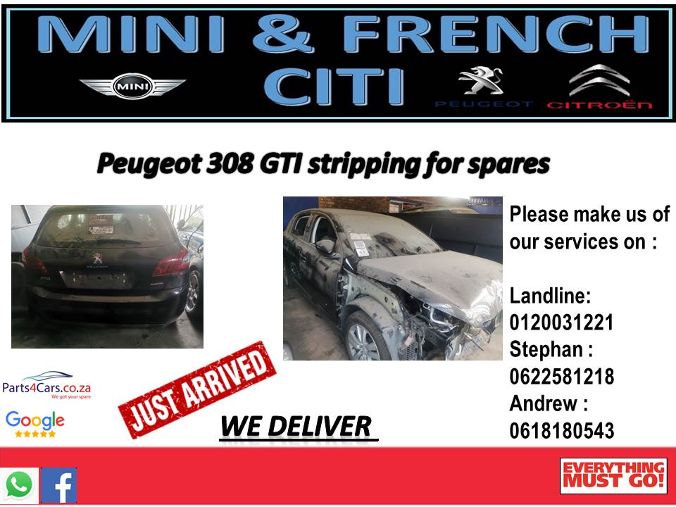 Peugeot 308 GTI stripping for spares!!