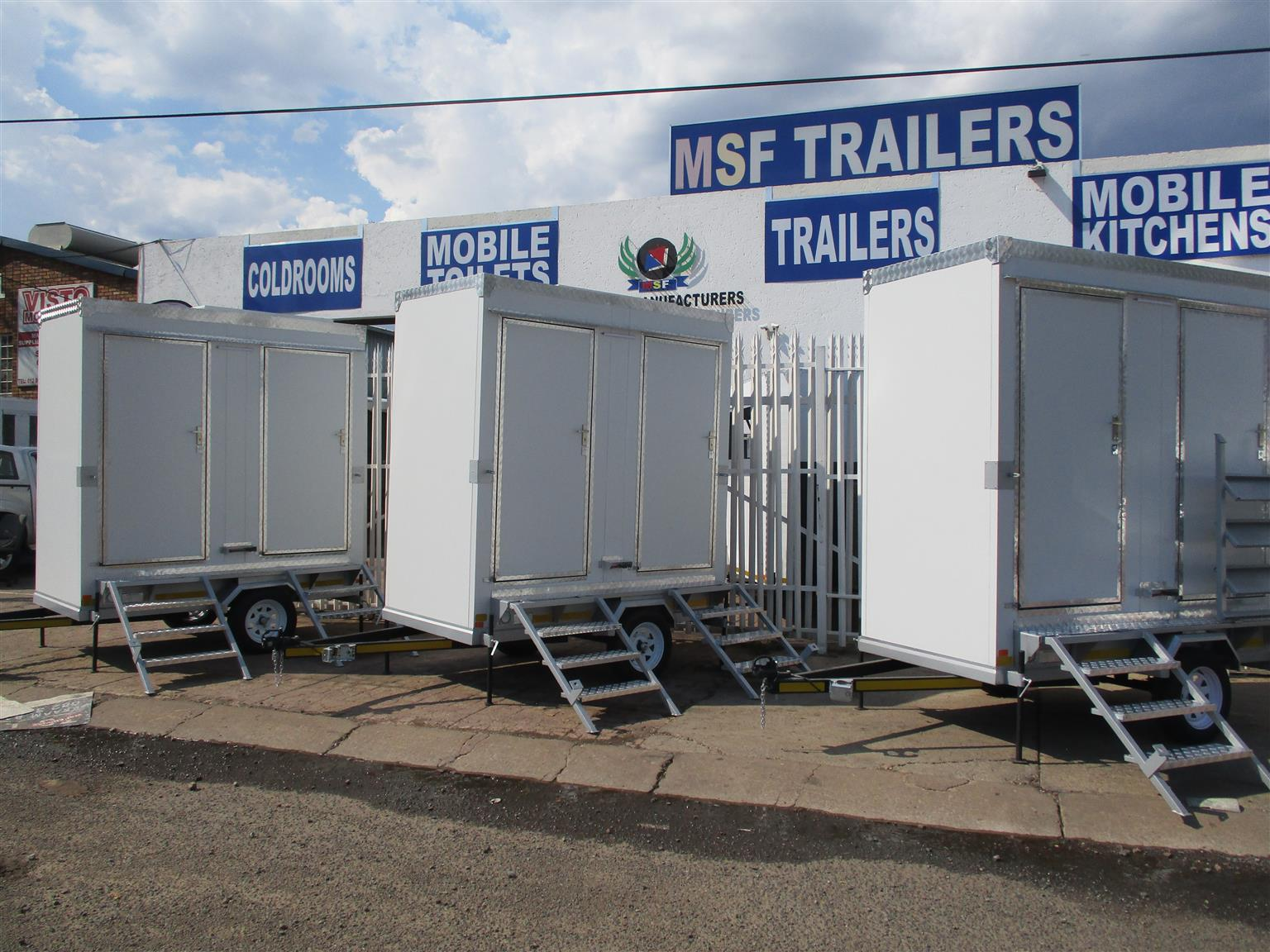 VIP Mobile Toilet for sale @ Msf Trailers
