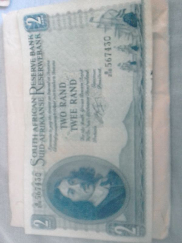 Antique Rare 1962 SA Twee/Two Rand