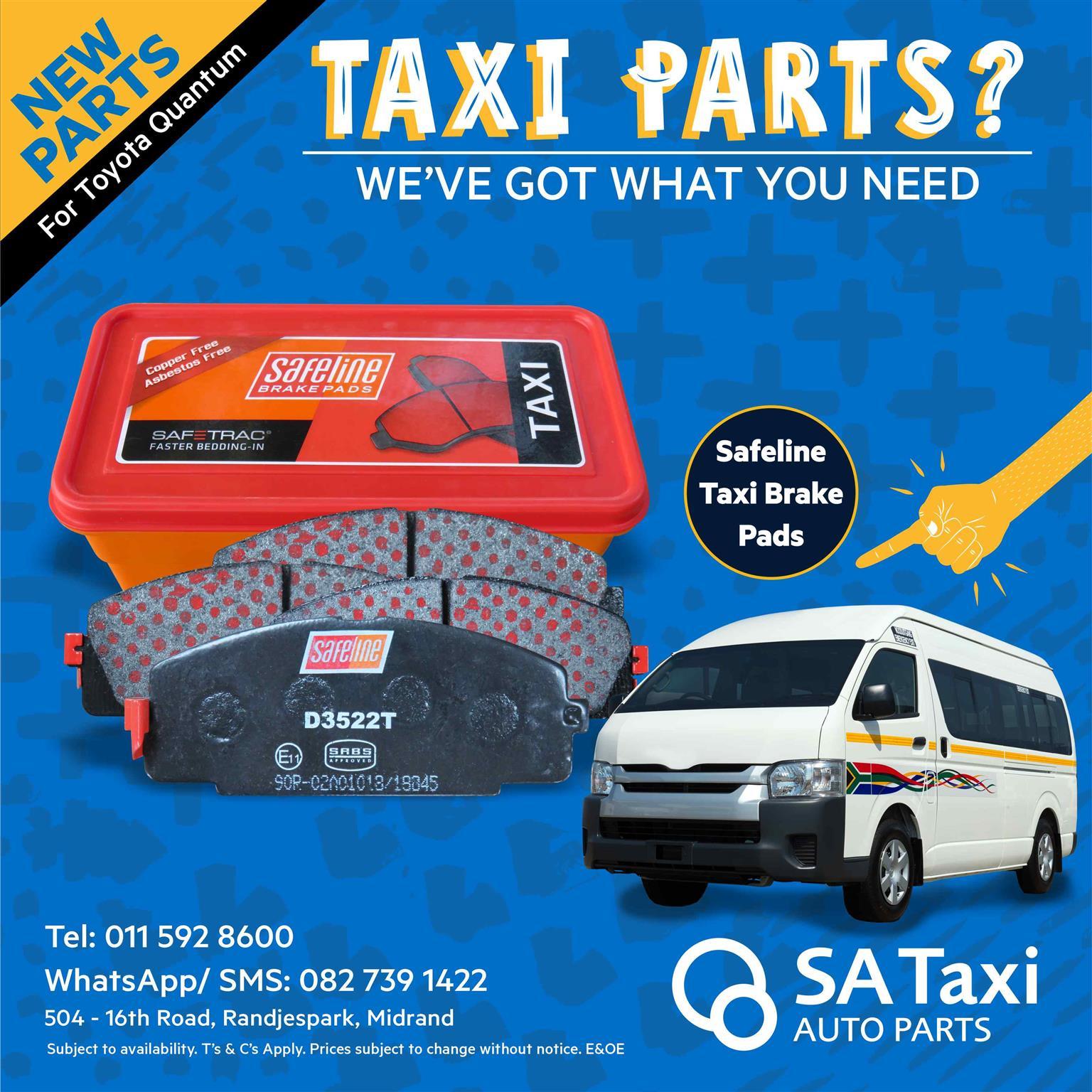 Safeline Taxi Brake Pads for Toyota Quantum