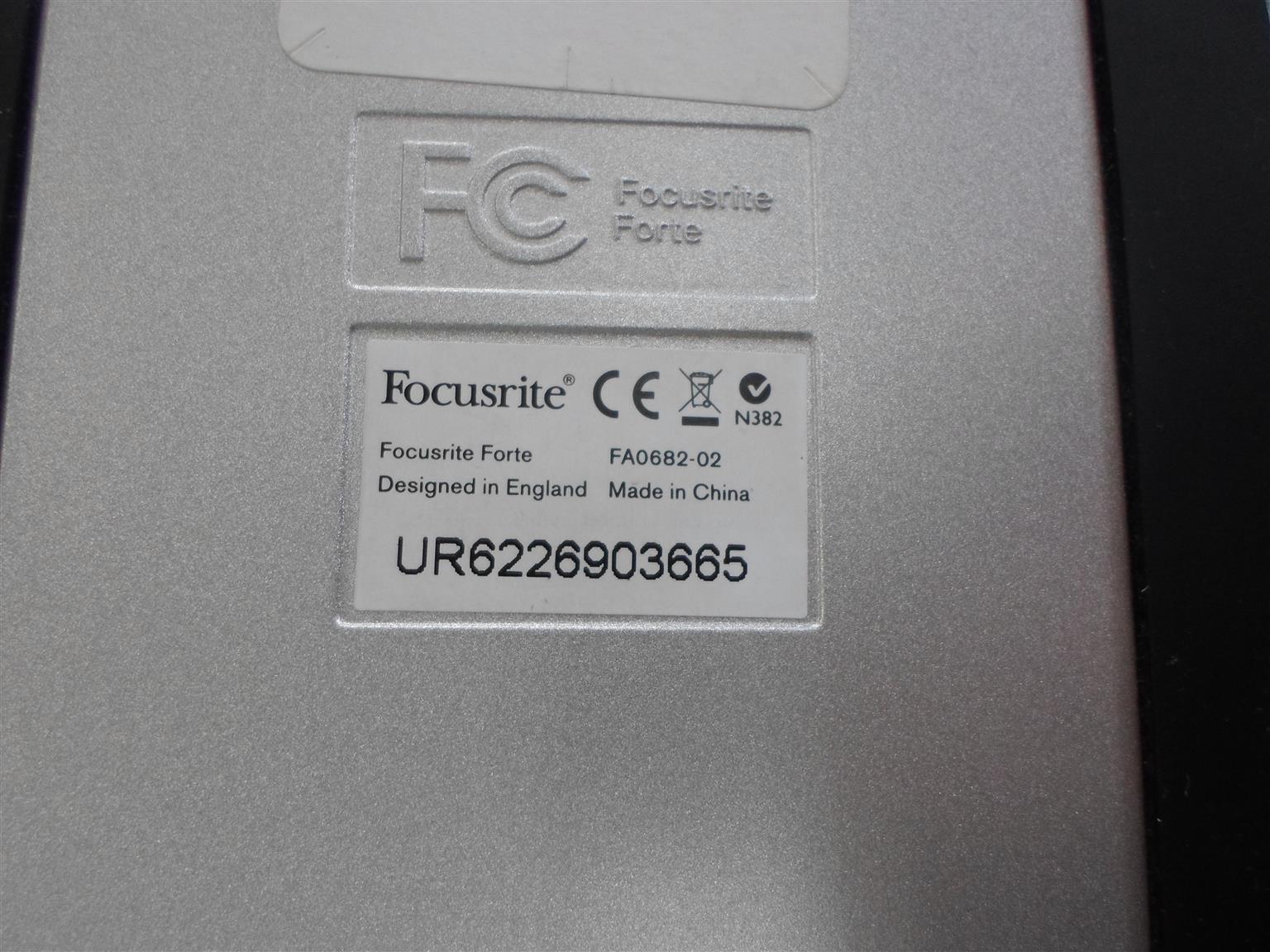 Focusrite Forte USB Audio Recording Interface - C033045429-1