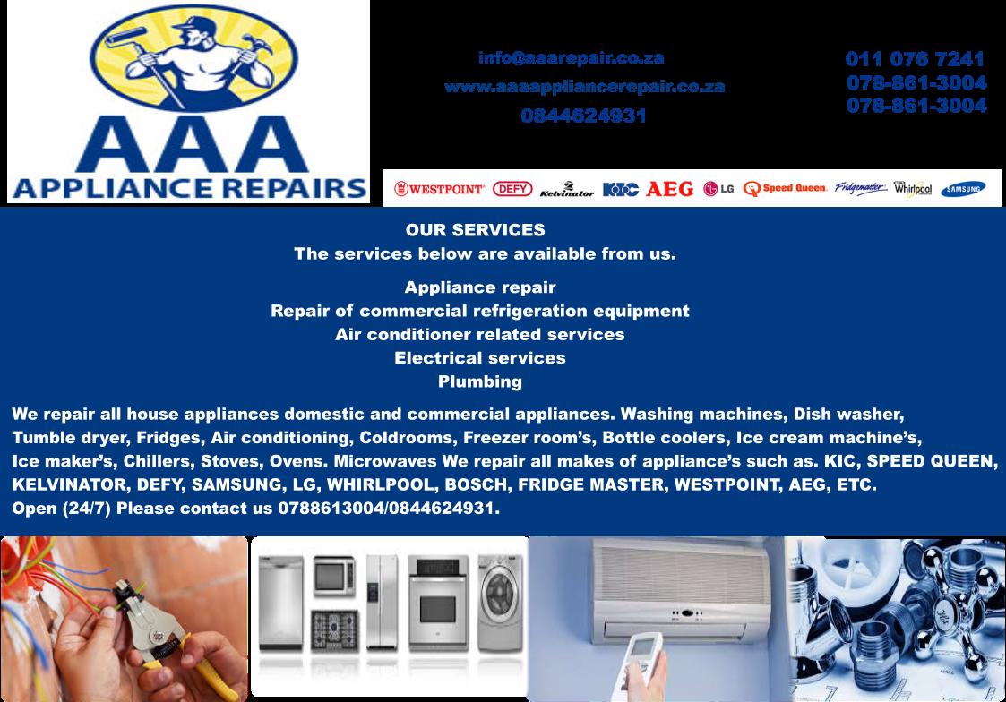 AAA Appliance Repairs