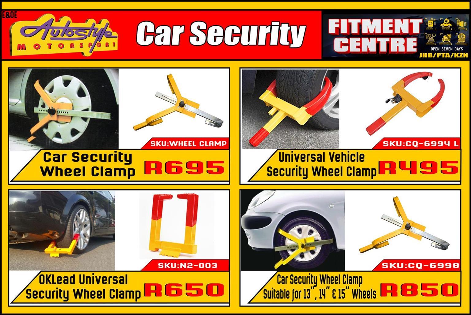 Car Security Wheel Clamp