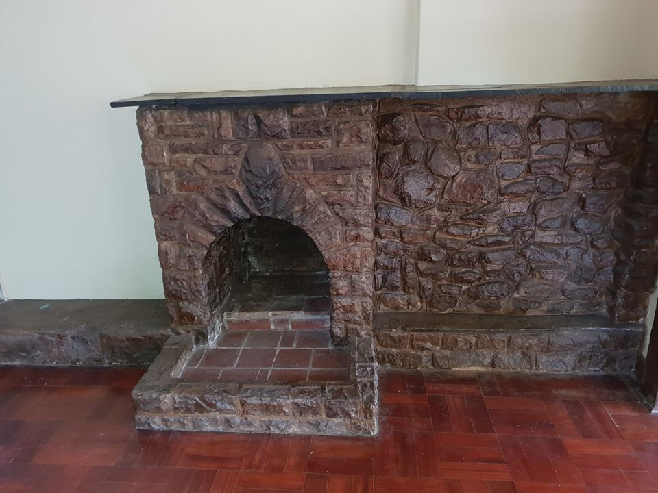Stone rock fireplace for sale