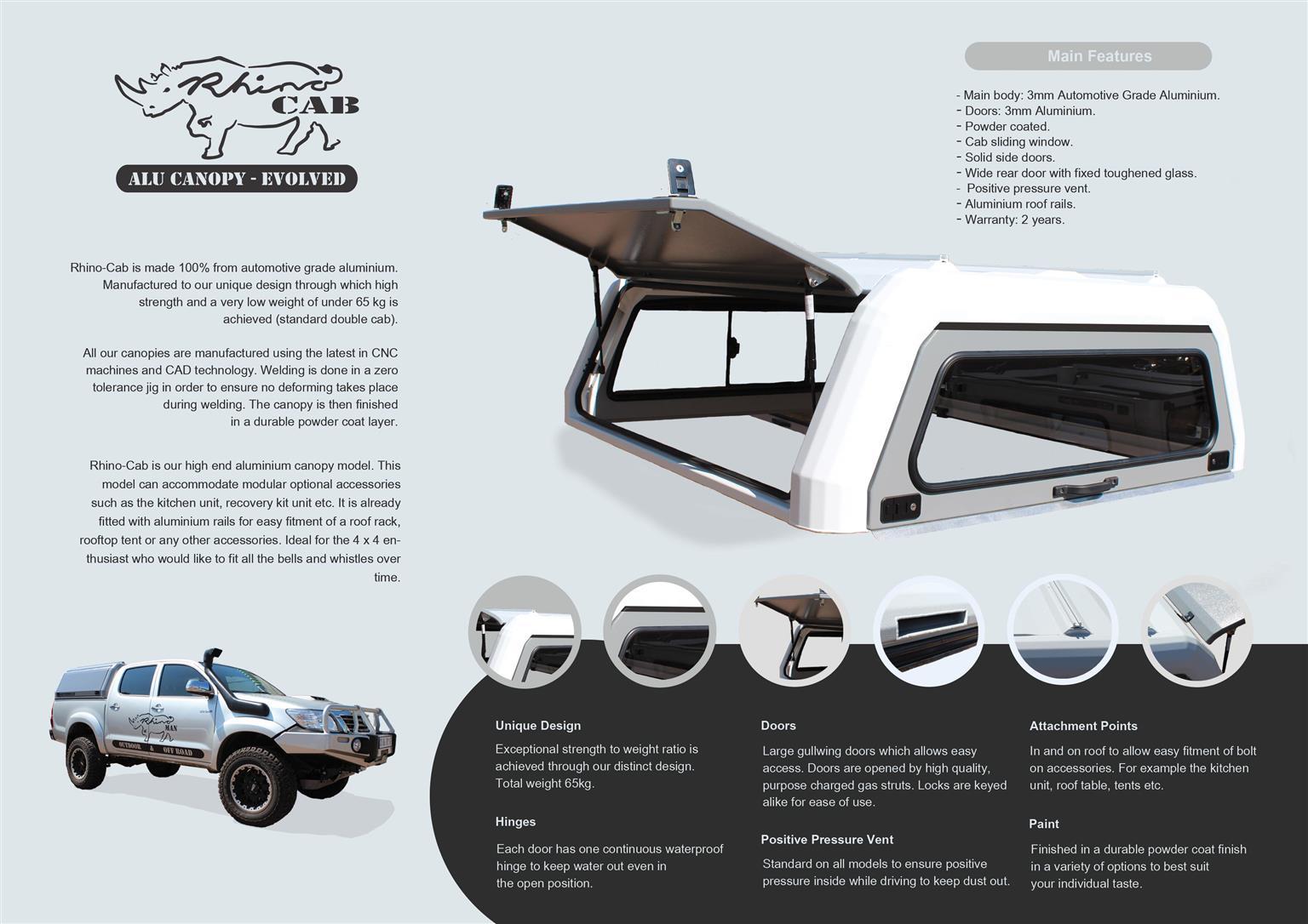 Premium Aluminum Canopies for your Bakkie.