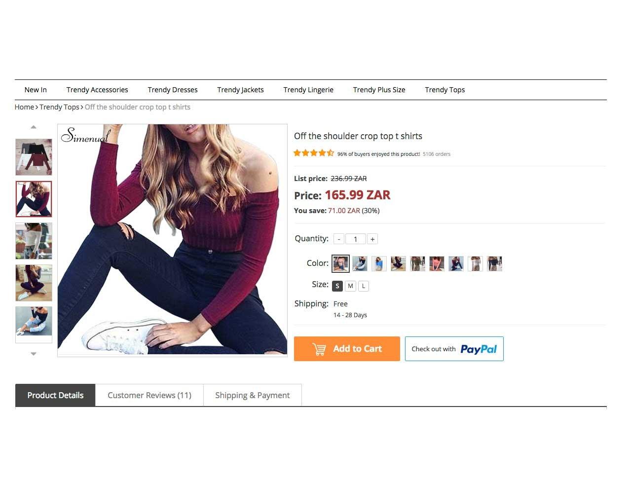 eCommerce store: FreshFashions   730+ Products