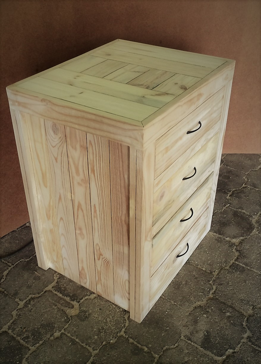 Kitchen Cupboard Base unit Farmhouse series 700 with 4 drawers - Raw