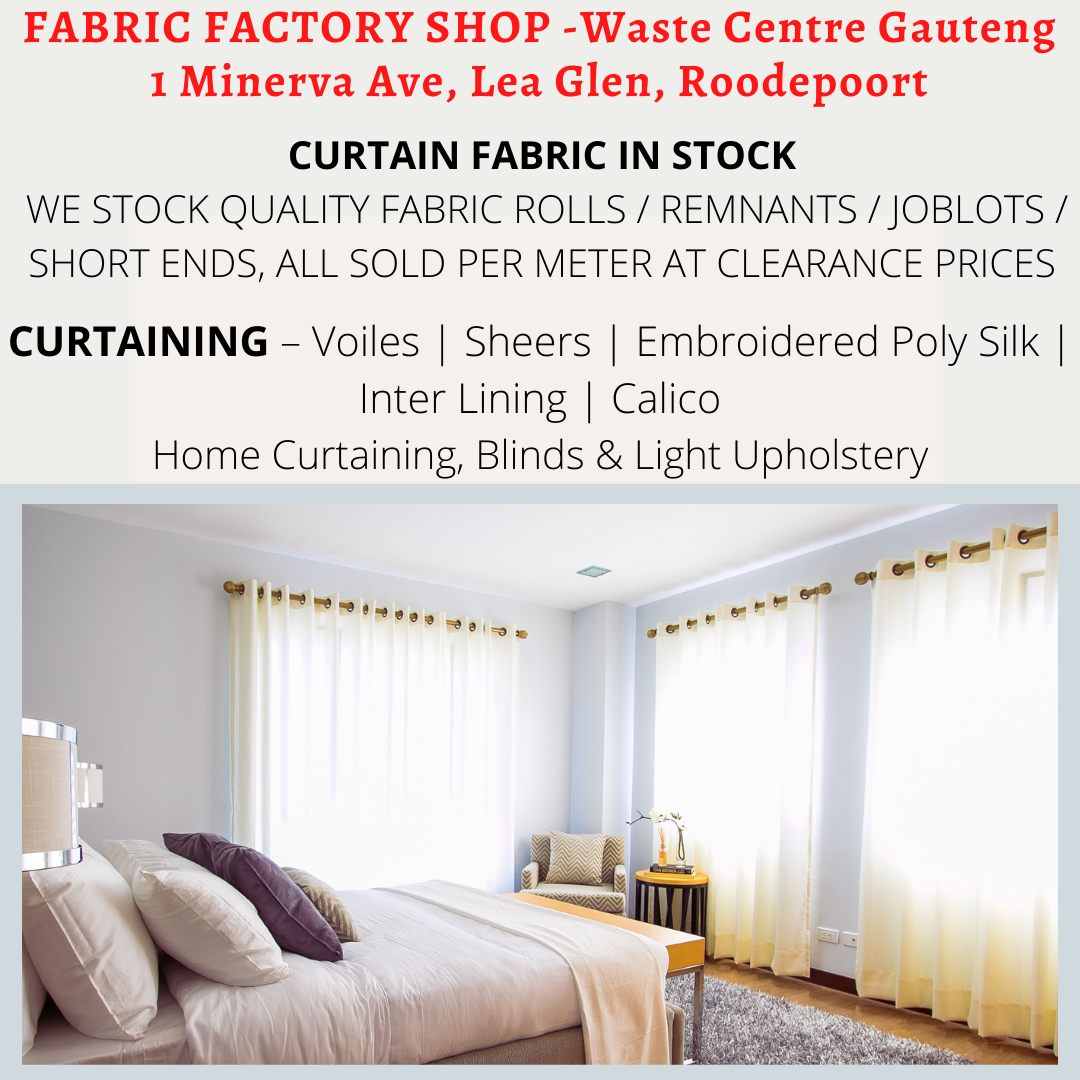 Fabric for Curtains R25.50 per meter