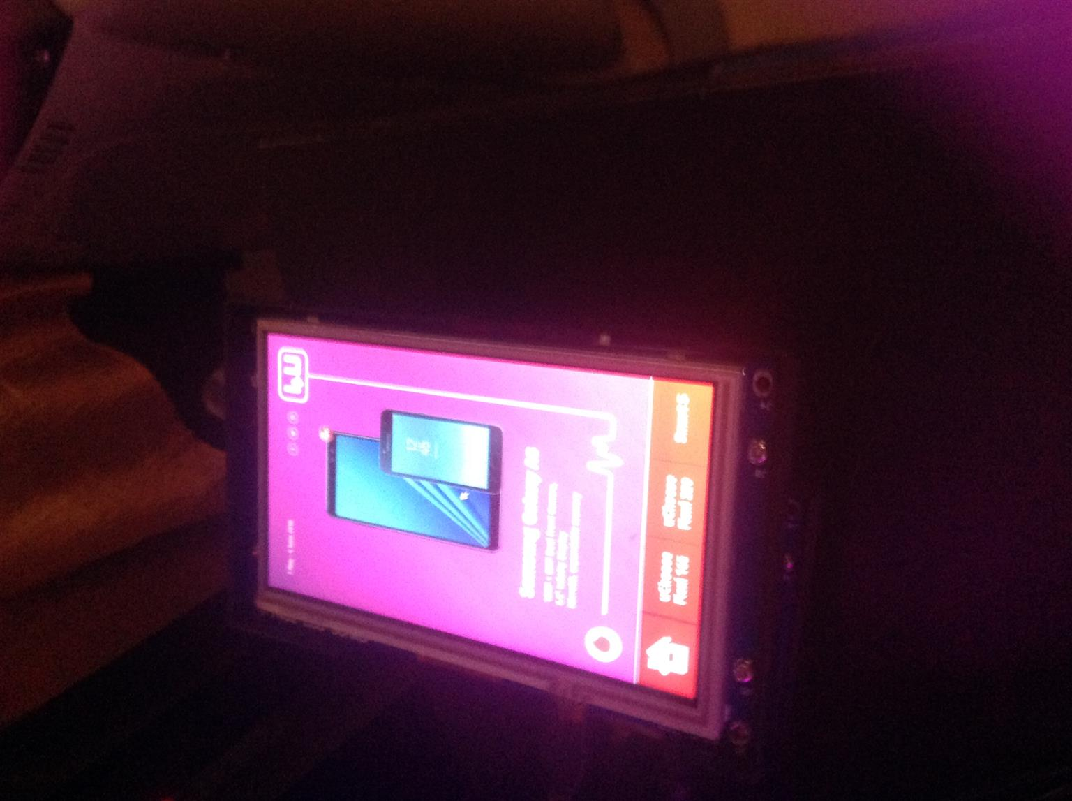 """7"""" screen used for display (cellphone shops)"""