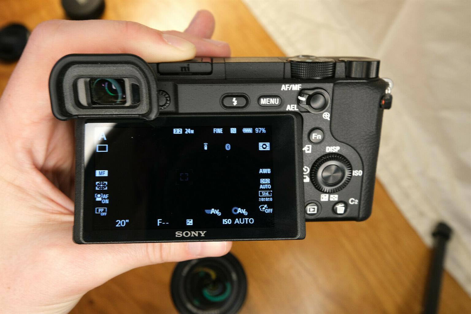 Mint Sony alpha a6400 with 18-135mm lens