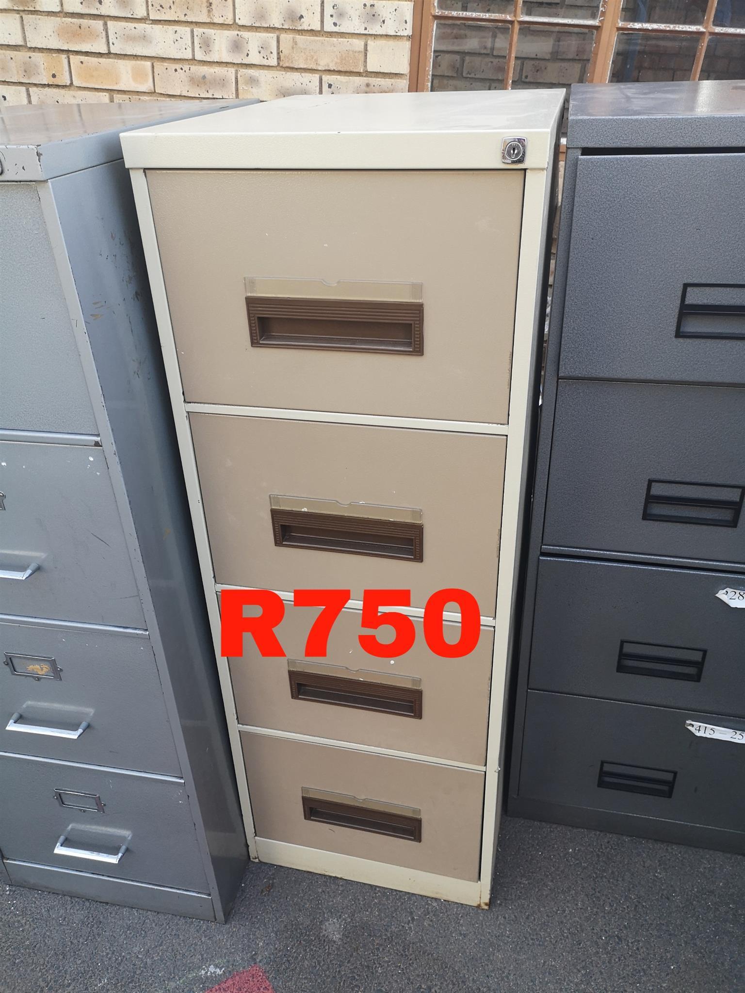 Four door filing cabinets