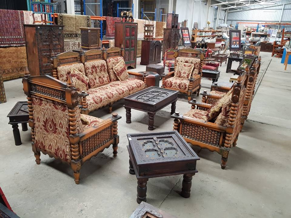 5 Piece Vintage Wooden Lounge Suite Junk Mail