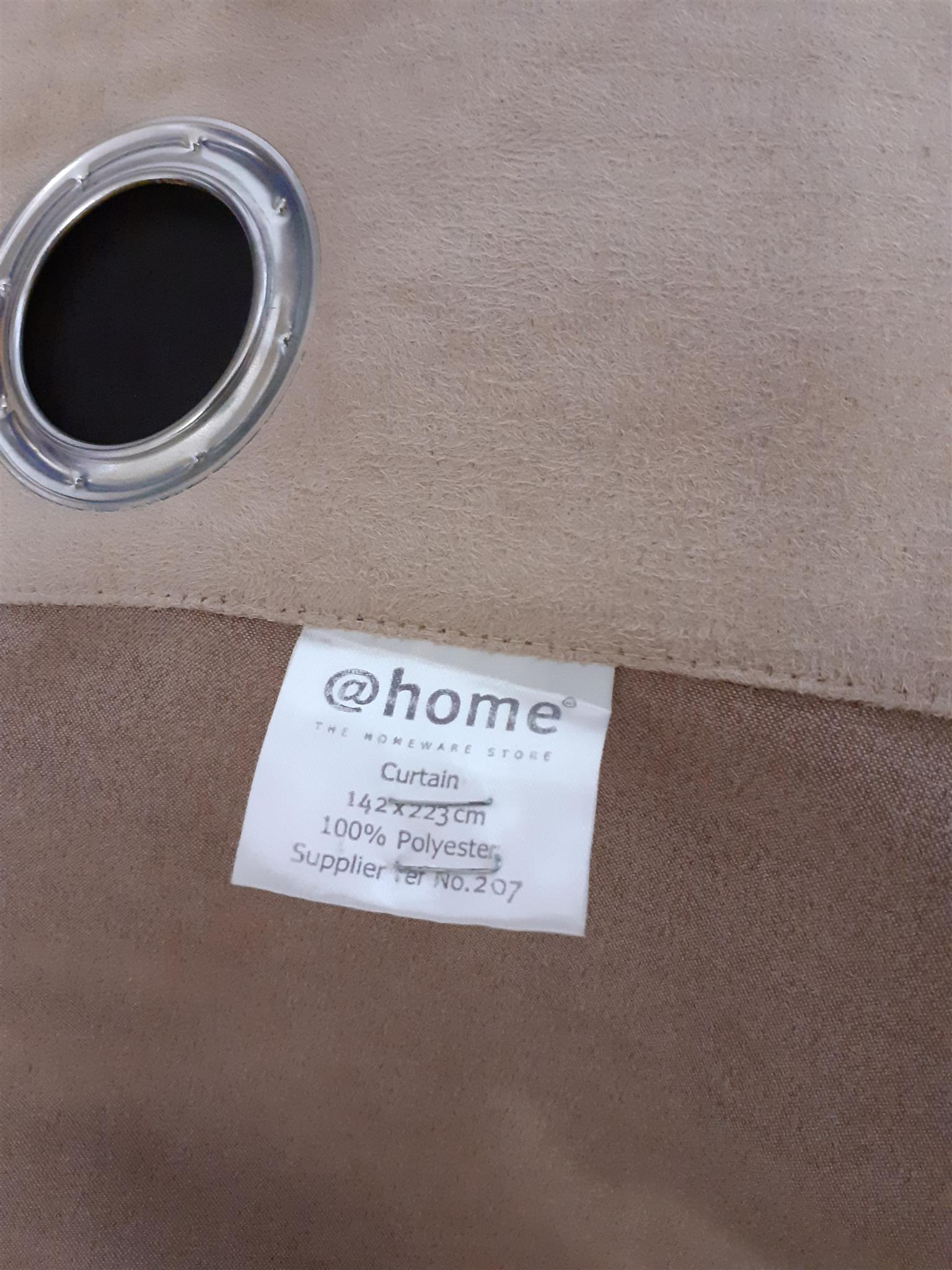 @home curtains thick total block suede