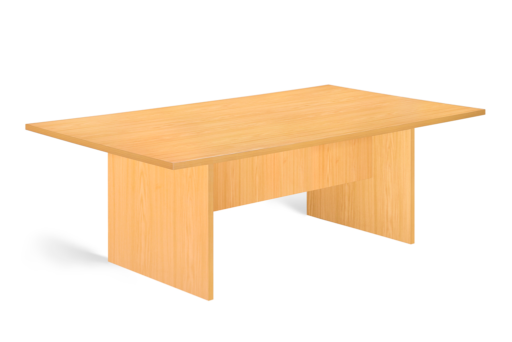 Boardroom Table 8 Seater Natural Oak.